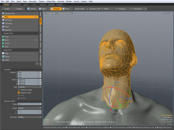 Flex_Head_manipulator  modo